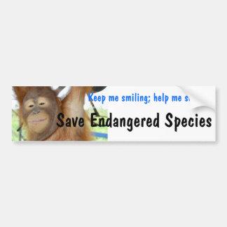 Arten-lächelnder Orang-Utan Autoaufkleber