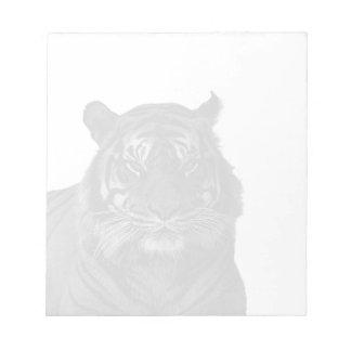Arten-Tiger-wilde Katzen Schwarzweiss Notizblock