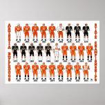Artesia Bulldoggen-Fußball-Uniform-Plakat