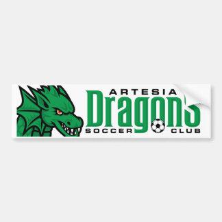 Artesia Drache-Fußball-Autoaufkleber