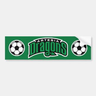 Artesia Drache-Fußball-Ball-Autoaufkleber