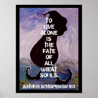 Arthhur Schopenhauer - Zitat - Plakat