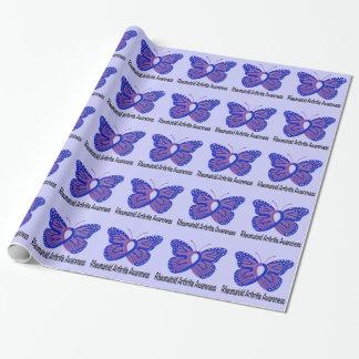 Arthritis-Schmetterlings-Bewusstseins-Band Geschenkpapier