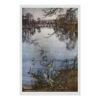 Arthur Rackham - Gärten Peter Pans Kensington Poster