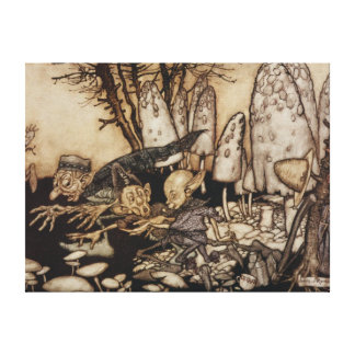 Arthur Rackham | Peter Pan in Kensington-Gärten Leinwanddruck