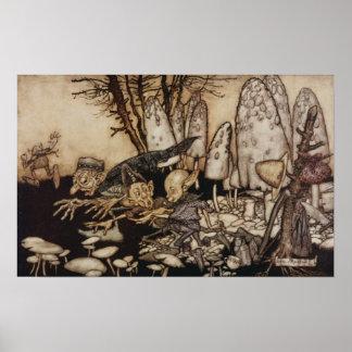 Arthur Rackham | Peter Pan in Kensington-Gärten Poster