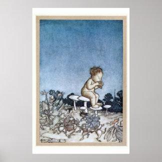 Arthur Rackham - Peter Pan Kensington arbeitet Poster