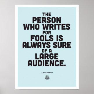 Arthur Schopenhauer - inspirierend Zitat-Plakat Poster