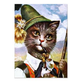Arthur Thiele - bayerische Alpen-Katze 12,7 X 17,8 Cm Einladungskarte