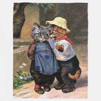 Arthur Thiele: Reizende Land-Katzen Fleecedecke