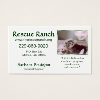 Artic & Babys 2 frms, Rettungs-Ranch, Rettung… Visitenkarte