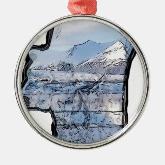 Artic Eisbär Silbernes Ornament