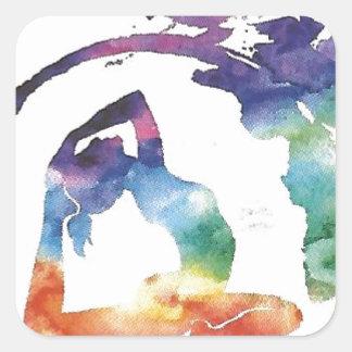 Artikel Tadasana Yoga Quadratischer Aufkleber