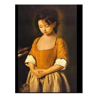 artist_Portraits Unbekanntes des La Penitente', Postkarte