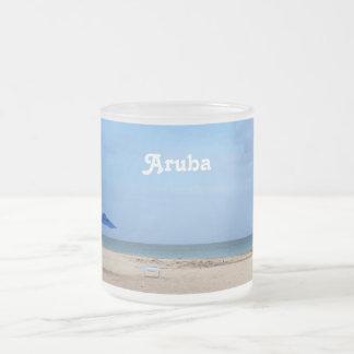 Aruba-Einsamkeit Mattglastasse