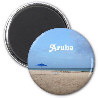 Aruba-Einsamkeit Runder Magnet 5,1 Cm
