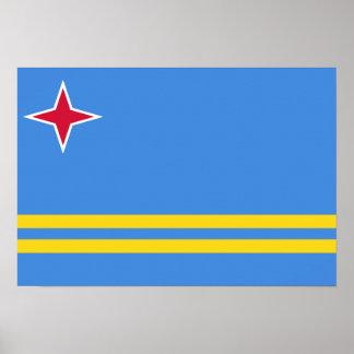 Aruba-Flagge Poster
