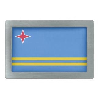 Aruba-Flagge Rechteckige Gürtelschnalle