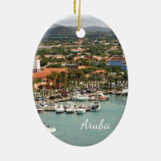 Aruba-Jachthafen Keramik Ornament
