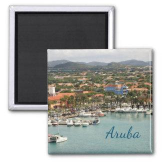 Aruba-Jachthafen Quadratischer Magnet
