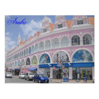 Aruba, Postkarte im Stadtzentrum gelegenes