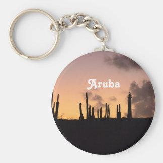 Aruba-Sonnenaufgang Schlüsselanhänger