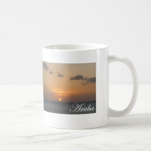 Aruba-Sonnenuntergang Teetasse