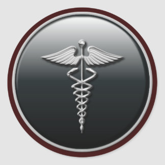 Arzt-Aufkleber Runder Aufkleber