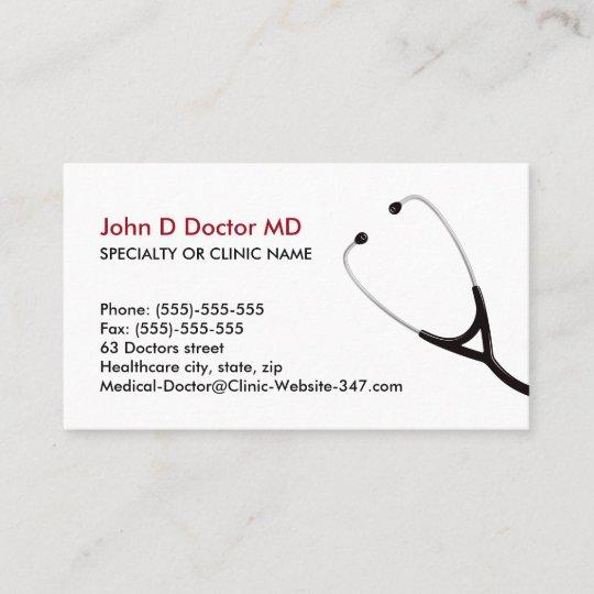 Arzt Oder Gesundheitswesen Visitenkarten Visitenkarte