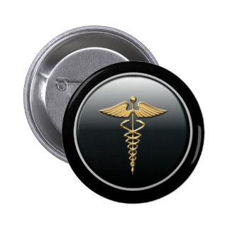 Arzt-Symbol-Knopf Runder Button 5,7 Cm