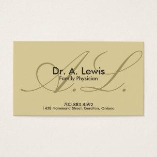 Arzt und medizinische Visitenkarte - Monogramm