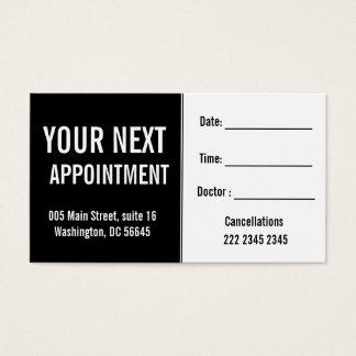 ArztPsysicians Krankenhauspatient-Termin Visitenkarte