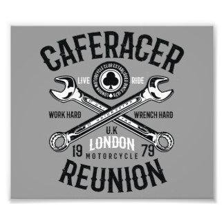 As-Caféracer-Wiedersehen-Arbeits-harter Fotodruck