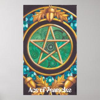 As des Pentagramm-Plakats Poster