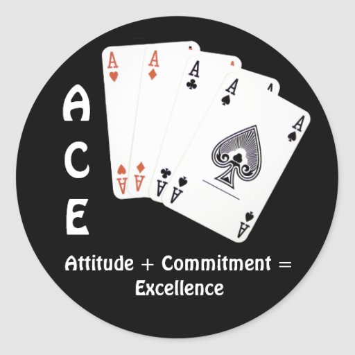 AS Haltung + Verpflichtung = hervorragende Leistun Runder Sticker
