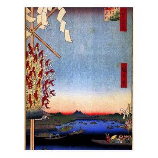 Asakusa Fluss, Miyato Fluss, großer Riverbank Postkarte