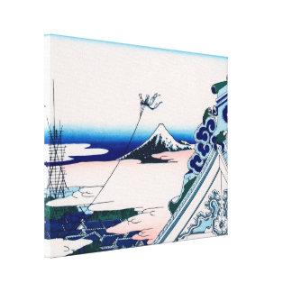 Asakusa Tempel 北斎 Hokusai Japaner-schöne Kunst Leinwanddruck