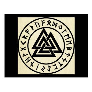 Asatru, alte Skandinavierreligion, Symbole, odin Postkarte
