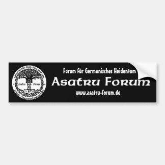 Asatru Forum orig. Schriftzug Autoaufkleber