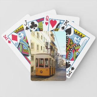 Ascensor des Kanals, des Lissabons, des Portugals, Pokerkarten
