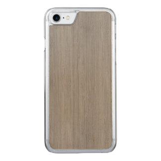 Aschen-Grau-hölzerner Korn-Bambusblick Carved iPhone 8/7 Hülle