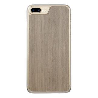 Aschen-Grau-hölzerner Korn-Bambusblick Carved iPhone 8 Plus/7 Plus Hülle