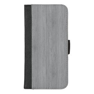 Aschen-Grau-hölzerner Korn-Bambusblick iPhone 8/7 Plus Geldbeutel-Hülle