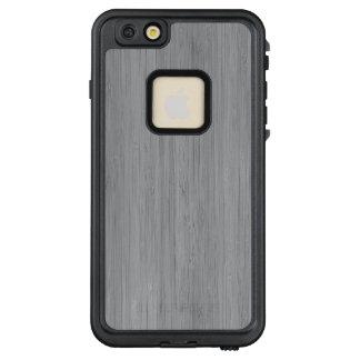 Aschen-Grau-hölzerner Korn-Bambusblick LifeProof FRÄ' iPhone 6/6s Plus Hülle