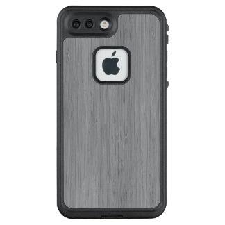 Aschen-Grau-hölzerner Korn-Bambusblick LifeProof FRÄ' iPhone 8 Plus/7 Plus Hülle