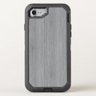 Aschen-Grau-hölzerner Korn-Bambusblick OtterBox Defender iPhone 8/7 Hülle