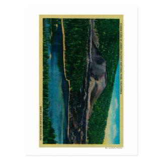 Aschen-Kegel in vulkanischem Nationalpark Lassens Postkarte