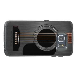 Aschen-schwarze Akustikgitarre