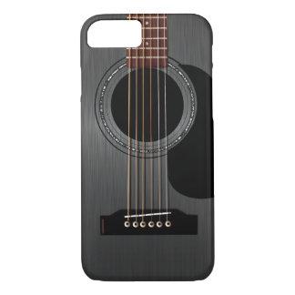 Aschen-schwarze Akustikgitarre iPhone 8/7 Hülle