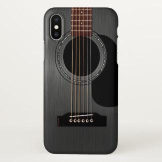 Aschen-schwarze Akustikgitarre iPhone X Hülle